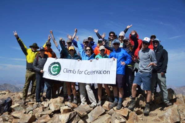 Climb for Conservation summited Mt. Elbert