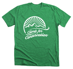 buy climb for conservation shirt